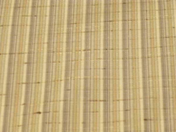 新品正絹反物★山形県・紅花の里工房ぜんまい紬着尺★グレー縞柄です_画像3