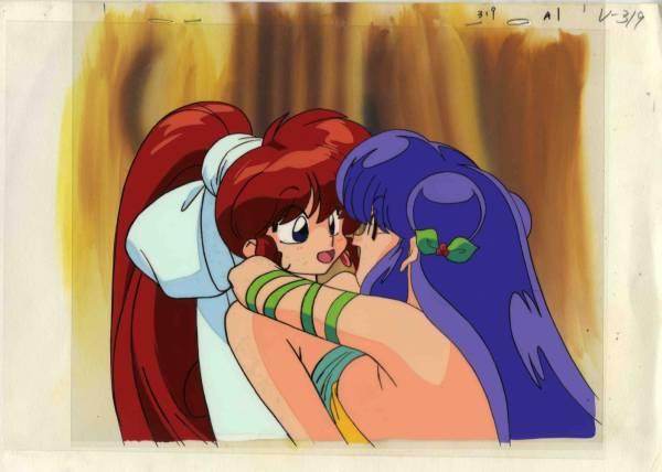 OVA『らんま1/2』女らんまとシャンプーのセル画。背景動画付_画像1