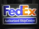 最終値下げ FedEx フェデックス 両面 ライトアップ 看板 ヴィンテージ