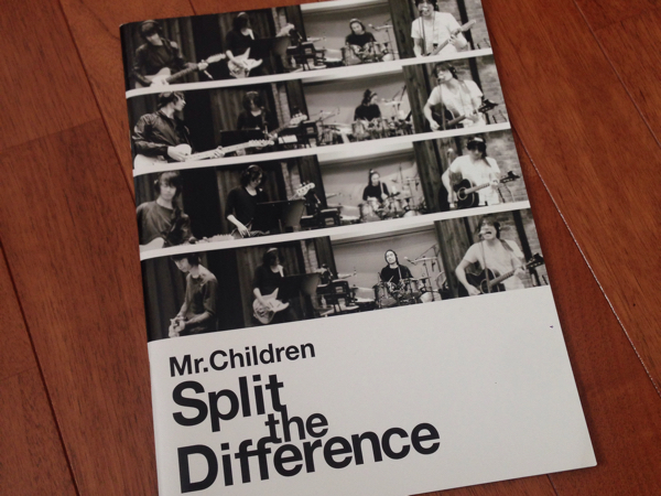 Mr.Children Split the Differenパンフレット*美品