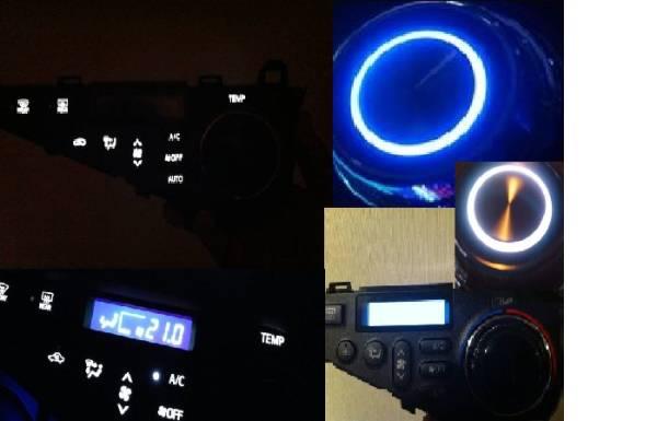 ◇10アクア前期 LED打ち替え済+液晶反転+G'sダイヤル付エアコン2 エアコンスイッチASSY販売_画像2