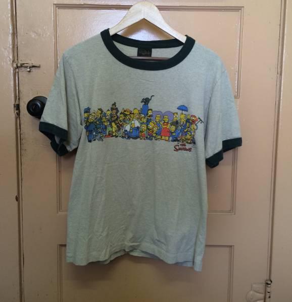 SIMPSONS シンプソンズ ビンテージ Tシャツ 2pac nirvana rap M