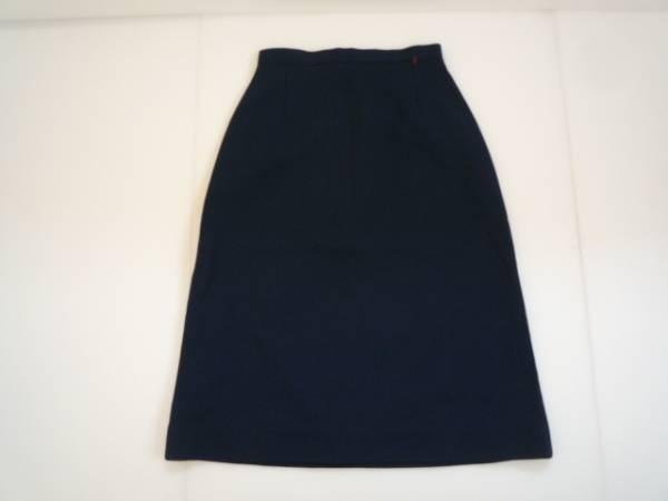 【良品!!】●Original Uniform● 台形スカート ネイビー 7分丈