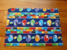 ハンドメイド*レゴ風ブロック柄(青)ランチョンマット25×35