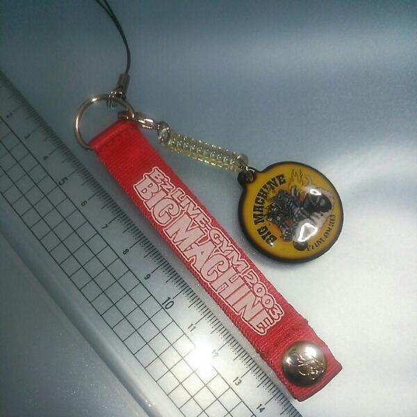 B'z 2003年ツアーグッツ ストラップ 送料無料! ビーズ