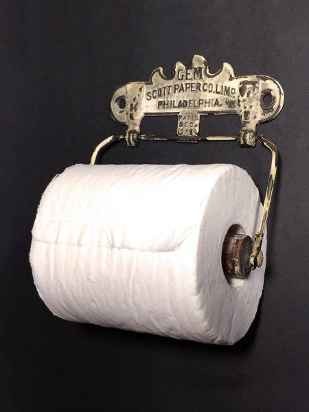 1890 USA アンティーク トイレットペーパーホルダー/ビンテージ/ランプ/o.c.white/アドバタイジング/店舗什器/照明/鏡/シャビー/キーリング_画像2