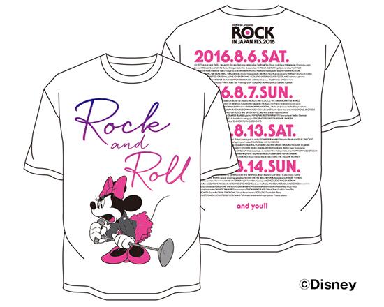 ROCK IN JAPAN FES 2016 OFFICIAL GOODS ミニー Tシャツ M