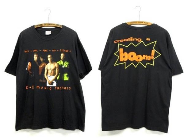 【90s C+C MUSIC FACTORY フォト Tシャツ】RAPTEES 80s ダンス