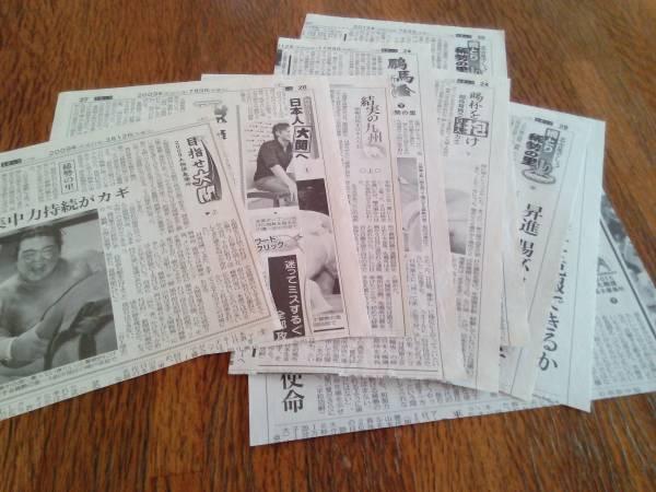 2004年-2015年 中日新聞記事 大相撲 稀勢の里関 切り抜き 11点セット 即決/値下げ グッズの画像
