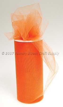 *ハロウィンに チュールレース オレンジ 生地 1ロール 仮装