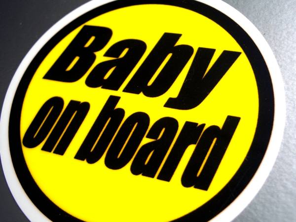 BC* yellow BABY on board sticker B* baby _ car (1