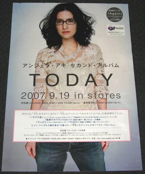 ×3 アンジェラ・アキ [TODAY] 告知用ポスター