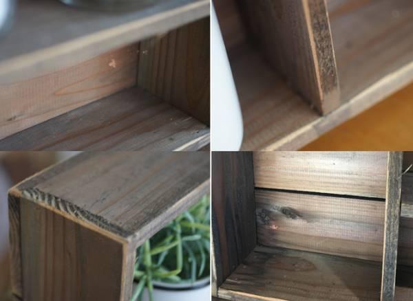 シャビーブラウンの木製スパイスラック☆レトロ 飾り棚 調味料棚_画像2