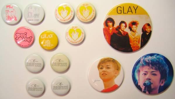 GLAY 缶バッジ/缶バッチ 多数