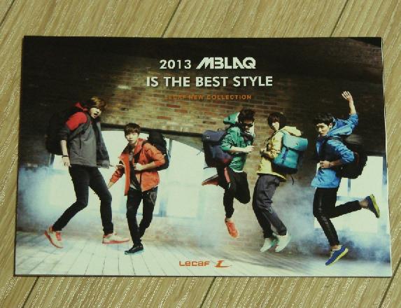★MBLAQ Lecaf 2013年 非売パンフ★即決韓国最新エムブラックピ