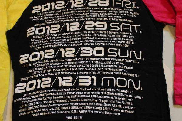 カウントダウンジャパン2012年10周年記念ロングTシャツ限定品_画像3