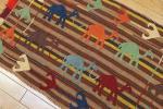 目玉SALE☆ウズベキスタン☆らくだラグ☆手織りオールドキリム☆ビンテージ刺繍☆テキスタイルインテリア☆68x102cm/GH24