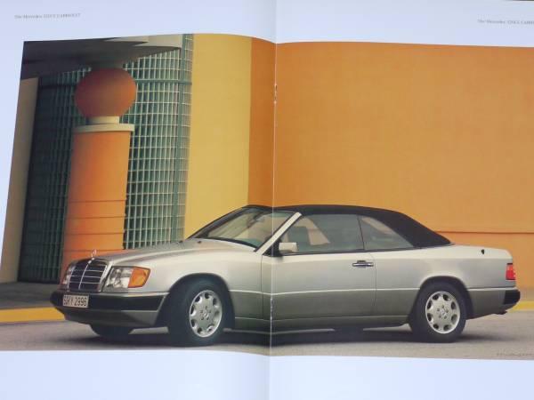 ■1992 ベンツ320CE カブリオレ カタログ 日本語版6■_画像1