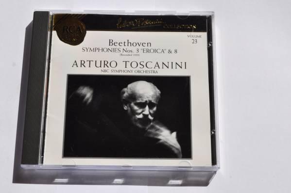 ベートーヴェン:交響曲第8番&第3番/英雄@アルトゥーロ・トスカニーニ&NBC交響楽団/ゴールドCD/Gold CD_画像1