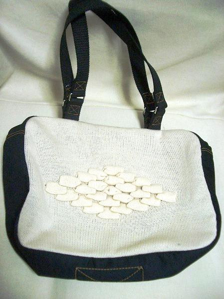 オリジナルニット毛糸のハンドバッグ⑤(未使用品)