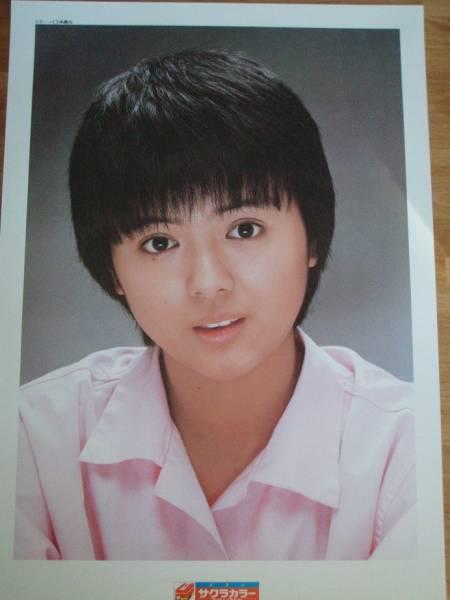 薬師丸ひろ子 サクラカラーポスター 59×83cm ピンクシャツ コンサートグッズの画像
