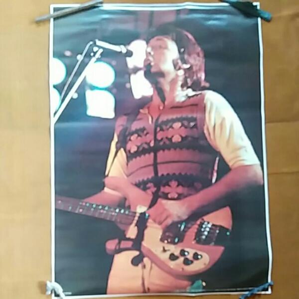 ポール●1975年当時物●新品未使用ポスター●ビートルズ ライブグッズの画像