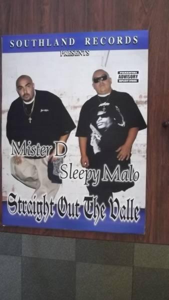 ☆Mister D & Sleepy Malo / EAST SIDE VALLEROS 両面ポスタ-