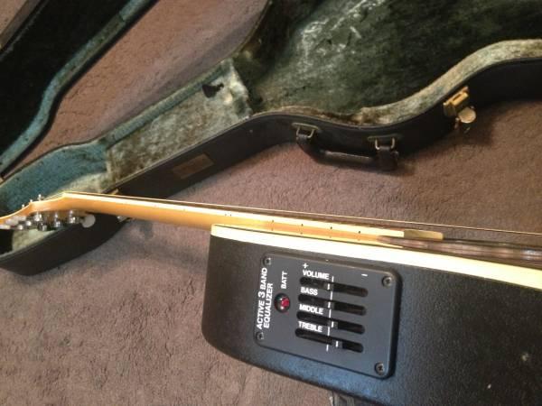 古き良き国産アコースティックギターgrecoメイプル指板の小振りなエレアコ★HC付