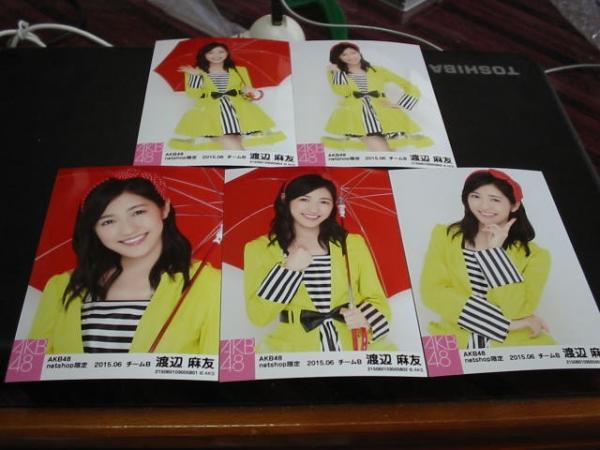 AKB48 2015年6月度 個別生写真5枚セット 渡辺麻友 ライブ・総選挙グッズの画像