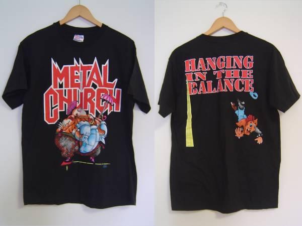 ♪美品90sビンテージMETAL CHURCHメタル・チャーチTシャツUSA製L