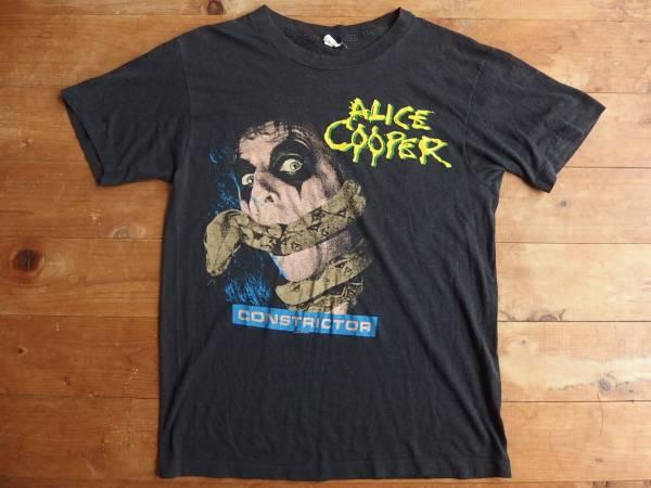 80s USA製ヴィンテージ ALICE COOPER アリスクーパー Tシャツ L