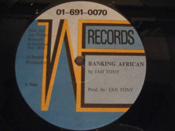 ■Jah Tony/Ranking African■レアSTUDIO16!_画像1