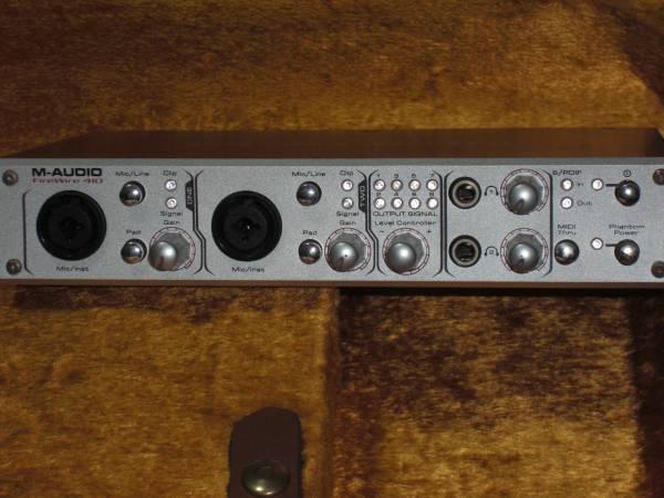 エムオーディオ M-AUDIO FireWire 410 オーディオインターフェース 24Bit 96kHz 超高音質! DTM DAW 宅録 PC REC等に最適 4in/10out_画像1