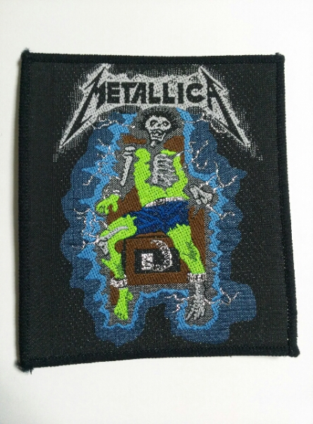 METALLICA 刺繍パッチ ワッペン ride the lightning /anthrax