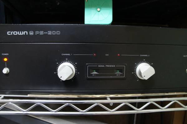 Crown(Amcron) PS-200 高音質パワーアンプ