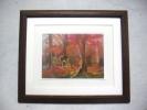 ◆田中章惠「昼下がり」オフセット複製・木製額付・即決◆