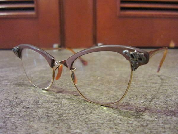 ビンテージ50's★ART CRAFT 12KGFキャッツアイ眼鏡★40'sアートクラフトアンティークフォックス1950sロカビリー_画像1