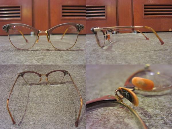ビンテージ50's★ART CRAFT 12KGFキャッツアイ眼鏡★40'sアートクラフトアンティークフォックス1950sロカビリー_画像2