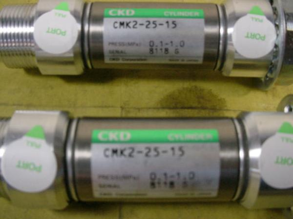 CKD エアーシリンダー CMK2-25-15*2本組 中古品 シリンダーK_画像2