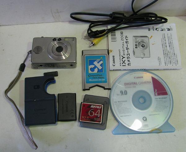 キヤノン200万画素デジカメ IXY DIGITAL200a ジャンク(^00MHA