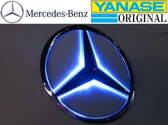 【M's】W211 W212 W218 W219/リア ベンツマーク LEDエンブレム_画像1