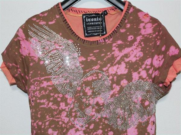 アイコニック ICONIC レディース半袖Tシャツ Mサイズ NO10 新品_画像2