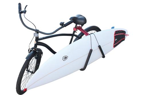 便利サーフボード自転車キャリアー黒検ロングファーキング@BS@_自転車での、サーフポイントまで楽々移動
