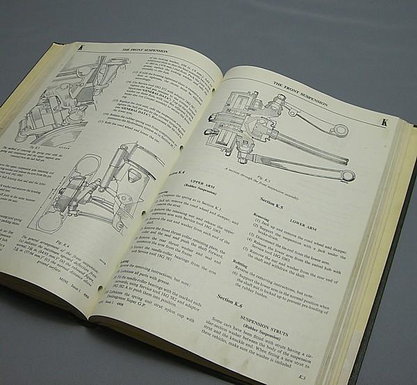 ◎〓◎BMC MINI ワークショップマニュアル 上製本 1969年版_画像3