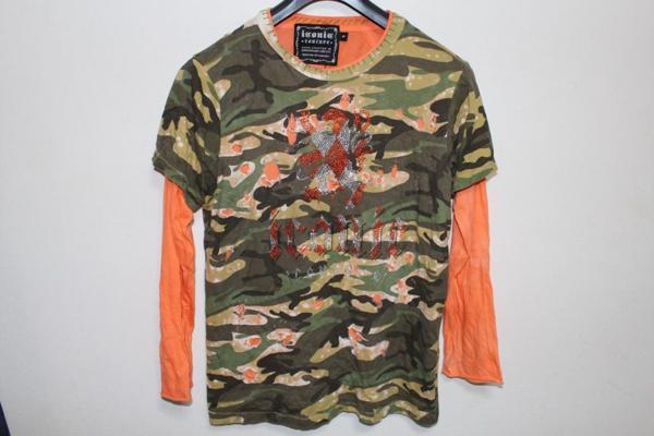 アイコニック ICONIC メンズダブルスリーブ長袖Tシャツ Sサイズ 新品_画像1