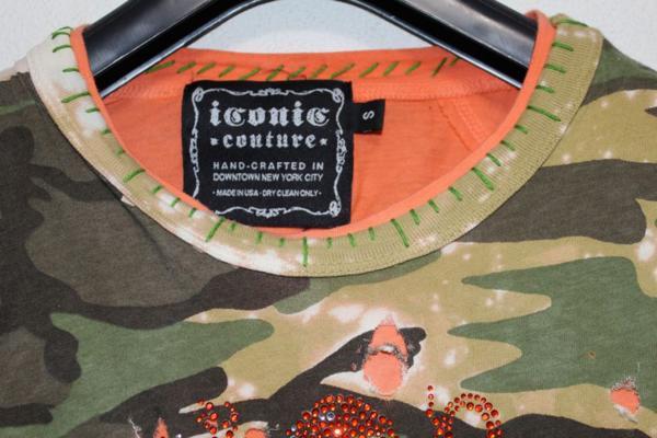アイコニック ICONIC メンズダブルスリーブ長袖Tシャツ Sサイズ 新品_画像4