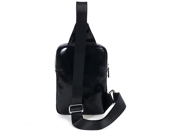 ボディバッグ 縦型 耐久性 最高光沢牛革 本革レザー メンズ ウエストバッグ ワンショルダーバッグ 斜めがけ 自転車鞄 2色選 8741-1_画像3