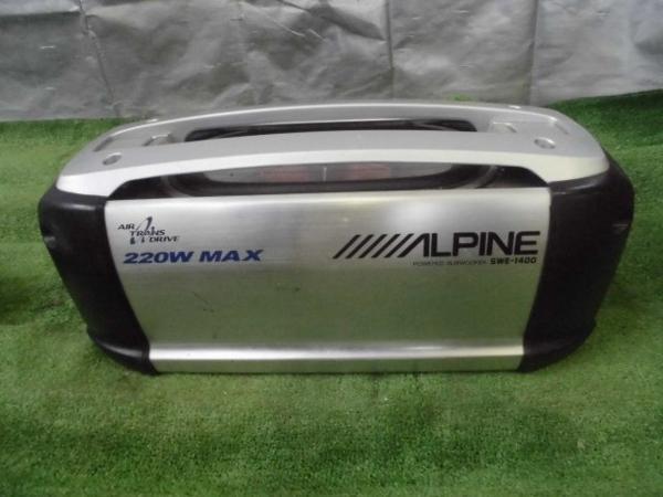 ジャンク ALPINE SWE-1400 MRV-F340 ウーハー アンプセット_画像3