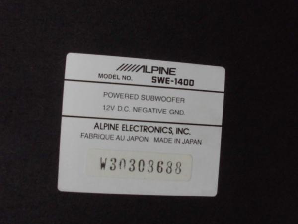 ジャンク ALPINE SWE-1400 MRV-F340 ウーハー アンプセット_画像4