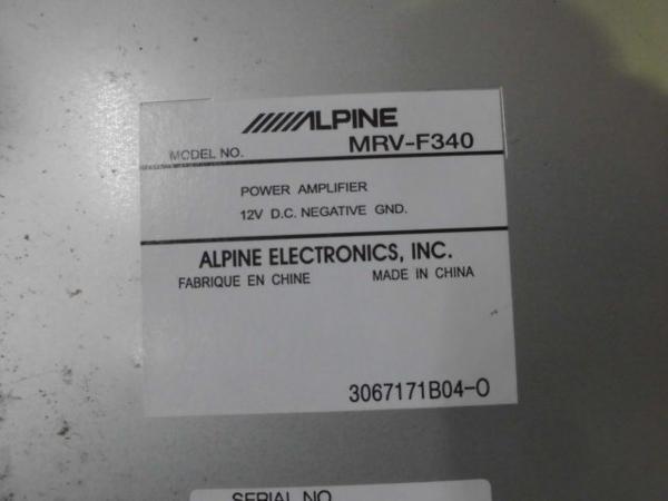 ジャンク ALPINE SWE-1400 MRV-F340 ウーハー アンプセット_画像6